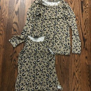 Saks leopard lounge top set size small